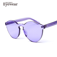 BOUTIQUE Transparent frame WOMEN brand circle Colorful Coating SUNGLASSES fashion men fashion glasses Good quality