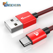 TIEGEM USB Type C Cable 3.1 USB Type-C Chager Data Cable for Huawei P9 OnePlus 2 ZUK Z1 Z2 NEXUS 5X 6P USB-C Fast Charging Cable