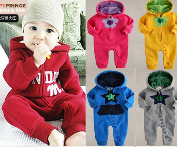 XJ-12, Star, Letter, baby romper, 100% cotton terry, hooded long sleeve zipper baby suit, 8 colors<br><br>Aliexpress