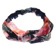 Buy direct from China Practical Beautiful cheap 1PC Cross Flowers Printing Hair Band Hair Cap Headband RD women hair accessories