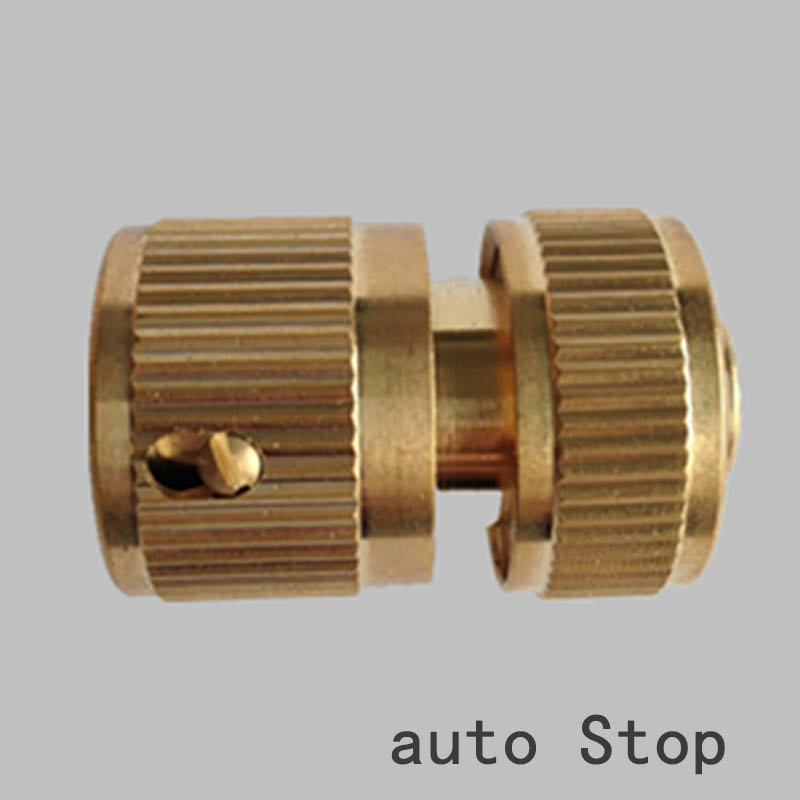 3 Piece Brass Hose Tap Fitting Connecter Set Auto Stop For Gardening Plumbing