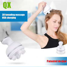 QX patented design Silicone Multifunctional dragon gripping head massager charging electric kneading scalp massage machine(China)