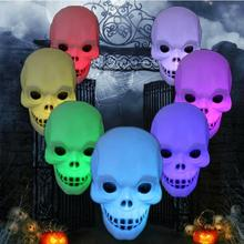 New Colorful xmas holiday LED Little skull head Night Light Home Decoration Candle Lamp gift for kids