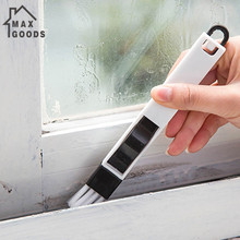 2 In 1 Polished Window Track Cleaning Brush Keyboard Nook Cranny Dust Shovel New