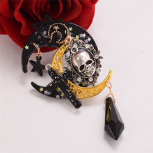 Takerlama Lolita Trappings Gothic Girls Cross Pentacle Stars Moon Skull Hair Clip Lolita Girls Headwear Hat Clip(China)