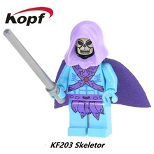 Skeletor He-Man Masters Of The Universe Motu Classics Blast Attack Super Heroes Building Blocks Bricks Toys for children KF203