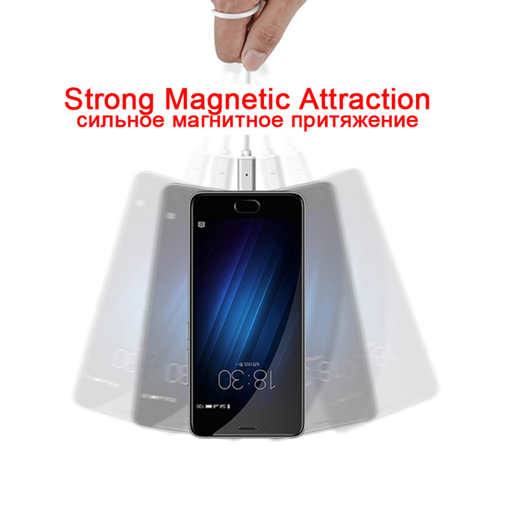 GARAS USB Type C/IOS/Micro USB 3IN1 Magnetic Cable Type-C USB-C Fast Charger Adapter Magnet Cable For IPhone Mobile Phone Cables 8