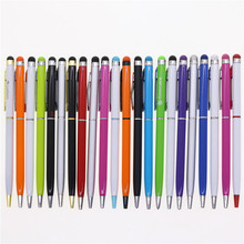 10pcs/lot free Capacitive touch screen  pen capacitor ballpoint pen metal ball pen promotional pen