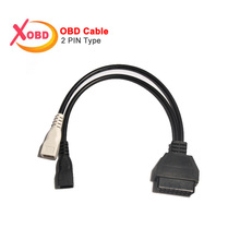 VAG 2Pin 2X2 to 16 Pin OBD2 Interface Adapter ELM327 Convert Cable for Old AU---DI Car Scanner Diagnostic Connector(China)