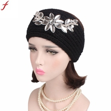 Knitting Diamond Headband 2017 Women Ladies Boho Turban Head Wrap Headband Knitting Wide Elastic Headband female hair accessorie(China)