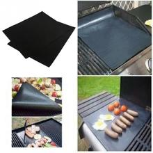 1Pcs Reusable Non Stick BBQ Grill Mat Sheet Hot Plate Portable Easy Clean OutDoor Cooking Tool(China)