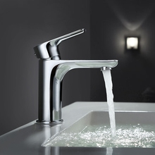 Contemporary bathroom Single handle Distinctive hot and cold water Solid brass basin mixer faucet