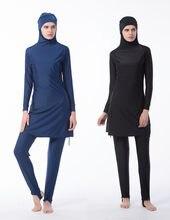 New Burkinis Muslim Swimsuit Modest Clothing Islamic Separated Women Wear Long muslimah Swimwear Hijab Muslim Swimwears(China)