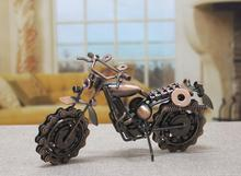 Home Decoration Crafts Figurines Miniatures iron antique imitation Vintage motorcycle models free shipping