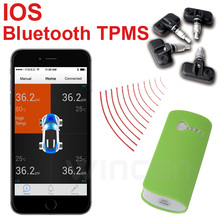 IOS iPone iPad iPod touch Bluetooth Wireless  TPMS with  Internal Sensors  Support High Low Pressure Temperature Alarm
