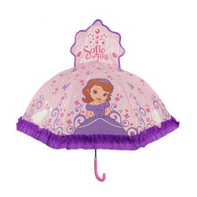 New Snow Princess Cartoon Patterns Umbrellas Kids Boy Girl Umbrellla For Children Paraguas Parasol Fashion Umbrella Umbrella-019(China)