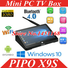 "original Mini PC PIPO X9S Intel Cherry Trail Z8350 Quad Core Windows 10 BOX 4GB/64GB 8.9"" 1920*1200 Wifi BT Mini Computer tv box"