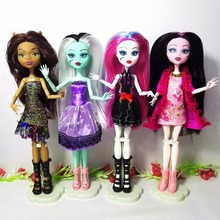 New Arrival Joints Monsters Highs Doll, Genuine Dolls, Fashion Girl Toy Baby Dolls, Doll Holder,Monsters Hight Toys Gift