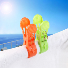 2017new 8pcs Large Sized Plastic Beach Towel Clips Quilt Clips Scarf Towels Clip Plastic Clips Clothespin Easy to Use(China)