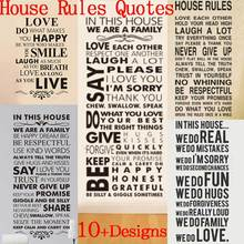 in this house rules wall stickers family room decoration 8085. diy vinyl adesivo de parede home decal print mural art poster 4.0(China)
