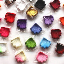100pcs/lot Wholesale Wedding Decorations Fashion Atificial Flowers Polyester Wedding Rose Petals(China)