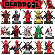 Marvel Classic Super Heroes Deadpool Green Yellow Red White Deadpools G-wen Building Block Figures Toys Children Gift
