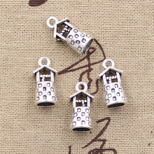 6pcs Charms 3D ancient well 17*9*8mm Antique Tibetan Silver Pendant Findings Accessories DIY Vintage Choker Necklace(China)