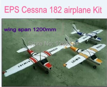 Hot Sale Better Quality  Brushless EPS RC Cessna 182 Airplane Model DIY kit 1200mm Wingspan 4 Color Free Shipping