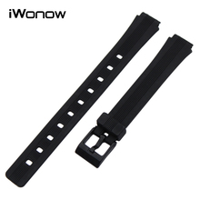 Silicone Rubber Watch Band for Casio EF Edifice Electronic Wrist Strap Sports Bracelet Black 12mm 16mm 17mm 18mm 19mm 20mm 22mm