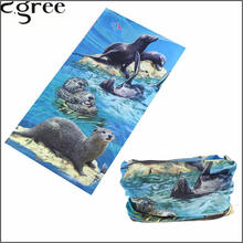 C.gree 2017 Fashion Custom Animal Bandana Multifunctional Tube Seamless Hijab Novelty Headwear Sunscreen Head Scarves 238