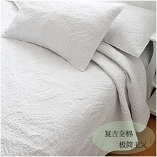 American 100% Water Wash Cotton Quilting Air Conditioning Summer Comforter Set 230*250cm With 2pcs Pillow Case 66*51cm