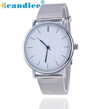 Hot Marketing  Popular Hot selling  Women Ladies Silver Stainless Steel Mesh Band Wrist Watch wholesale  Sep16
