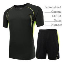Personalized Custom LOGO&Name&Number,Adult Man&Boy Pro Soccer Jersey Sets,Blank Football Clothes (T-Shirt+Shorts),Training&Match