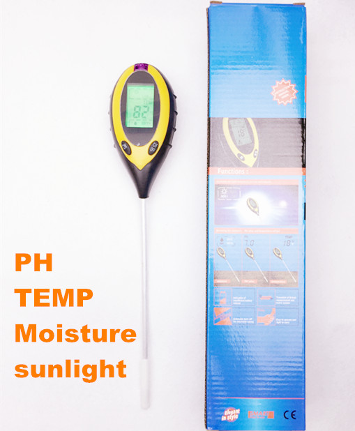 4 in 1 Digital pH Meter measure Soil PH Temperature  Moisture Sunlight tester Value Instrument Garden Plant with backlight<br><br>Aliexpress