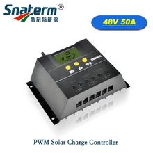 48V 50A LCD Intelligent Solar battery Charger Regulator 2400W Solar PV Cells Panel PWM Charge controller Charging for Lighting