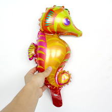KAMMIZAD Hippocampus lobster foil balloons 20pcs 16inch Marine life globos ocean animal theme party supplies air baloes kids toy(China)