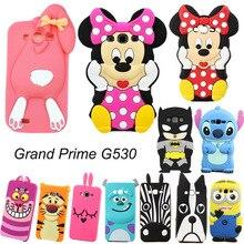 G530 G530H G531 G531H G531F 3D Cartoon Cute Minnie Stitch Unicorn Soft Silicone Back Cover Case Samsung Galaxy Grand Prime