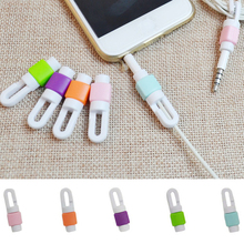 5pcs Phone Charging Cable Protector USB Cord Protecotor Winder Cover for iphone Samsung Headphone Cord Wires Protection Clips