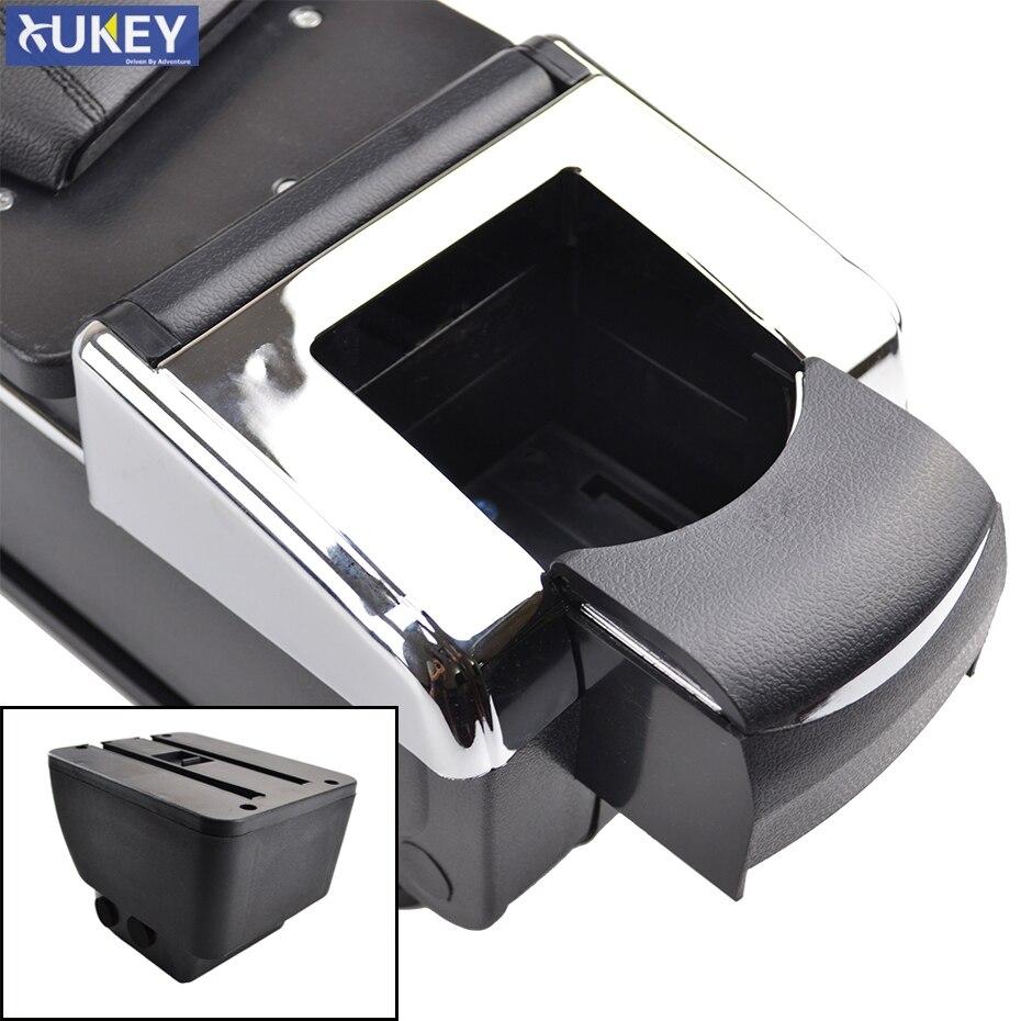 Dual-Layer Black Leather Arm Rest For 2 Demio 2008-2013 Centre Console Storage Box Armrest DE