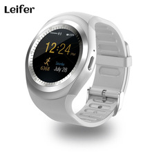 Leifer Y1 Smart Watchs Round Support Nano SIM &TF Card With Whatsapp And Facebook Men Women Business Smartwatch For IOS Android