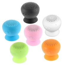 1x Mushroom Mini Wireless Bluetooth Speaker Waterproof Silicone Sucker Hands Free Speakers For Android Devices PC Computer Hot