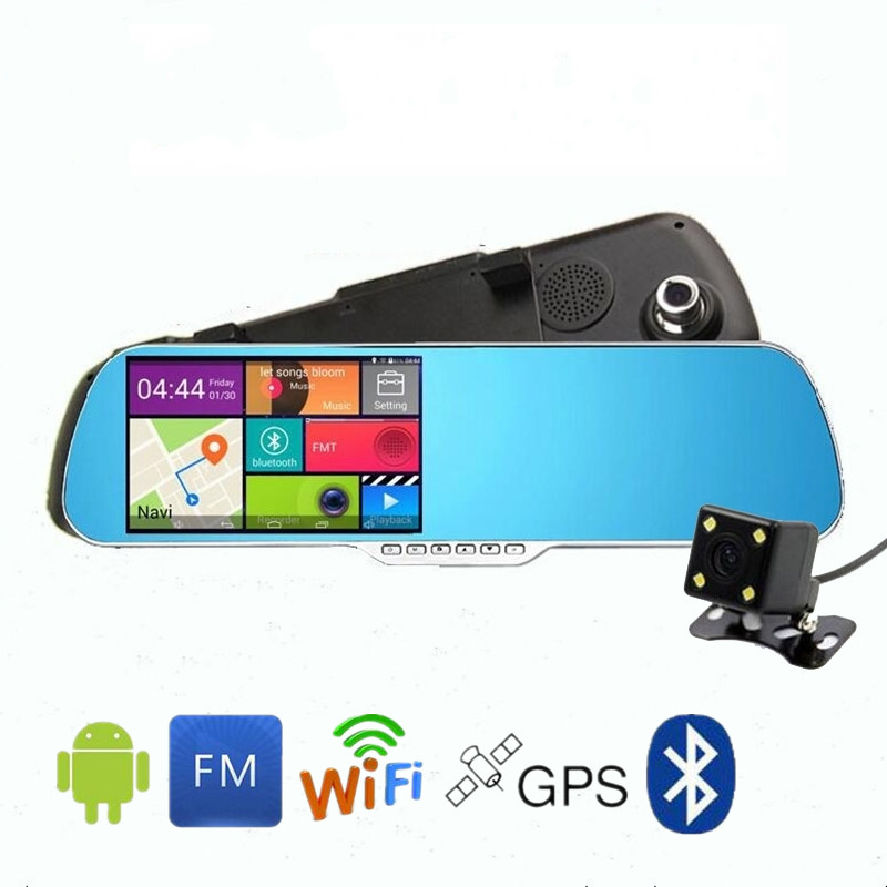 5 inch Android mirror dvr Car Video Recorder GPS Navigator Wifi Bluetooth Rearview Mirror Car Camera Full HD 1080P Night Vision<br><br>Aliexpress