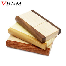 VBNM Original rotatable Wooden usb flash drive pendrive 4GB 8GB 16gb 32gb memory stick usb creativo Festival Gifts U disk(China)