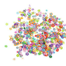 Flower 1Bag/1000Pcs 3D Colorful Animal Fruit Flower Fimo Slice Nail Art Tips Fingernail Salon Beauty Decoration