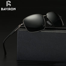 BAVIRON 2017 New Square Sunglasses Men Polarized Sun Glasses Male UV400 Driving Glasses Metal Frame Cool Eyewear Oculos 17060