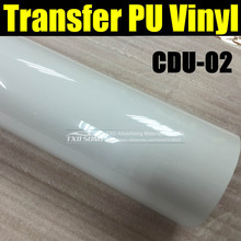 50X100CM/LOT High quality transfer PU VINYL FILM FOR cutter plotter use for heat transfer machine CDU-02 WHITE BY FREE SHIPPING(China)