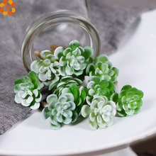 2016New!20PCS Artificial Succulent Grass Plant Fake Landscape Land Lotus Rare Plants Flower Home Garden Decor Wedding Decoration