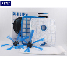 NTNT Vacuum Cleaner 2filter screen+2round brush+3floorcloth for Philips Robot FC8820 FC8810 Sweeping robot accessories(China)