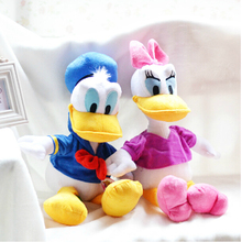 45cm 2pcs/lot Genuine Donald Duck Daisy Duck doll plush toy children's Day gifts , christmas gift free shipping