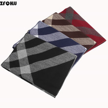 ZFQHJJ 2017 New arrival Fashion Stripe Winter Scarf Cashmere Wool Neck Warm Business Casual Scarves Male Muffler Men's Cachecol(China)